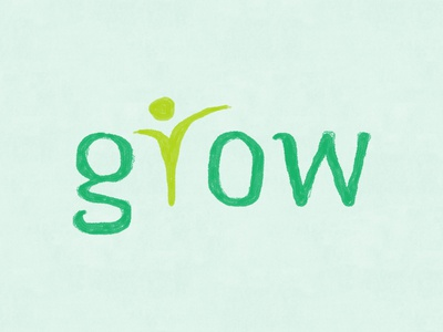 Grow Logo learning kids ckids