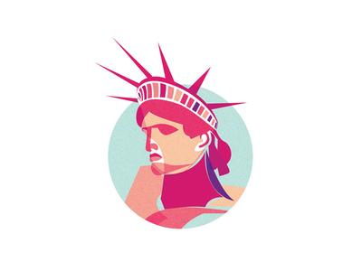 Lady Liberty new york sticker brooklyn statue
