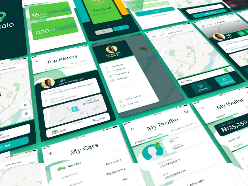 Carpooling App User Interface By Tobi Onaolapo Dribbble Dribbble