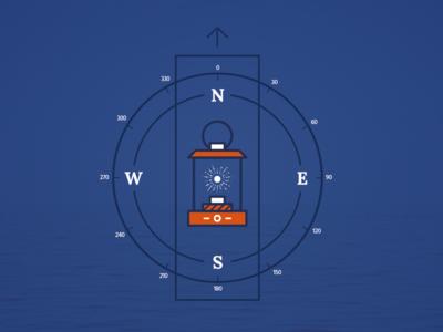 Keep Exploring. ocean lantern compass