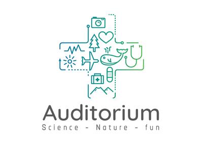 + Auditorium science medical travel icons amphiteater tourism auditorium