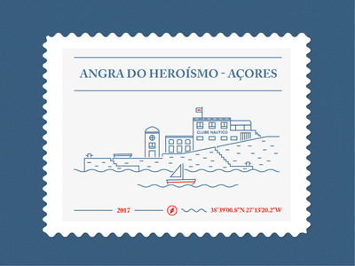 Club Nautico stamp boat harbour