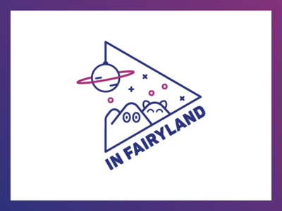 In Fairyland pink blue planet fairyland space