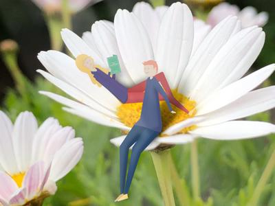 Flower People photograhy girl boy flower plant people nature illustration