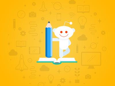 Reddit mascot illustration