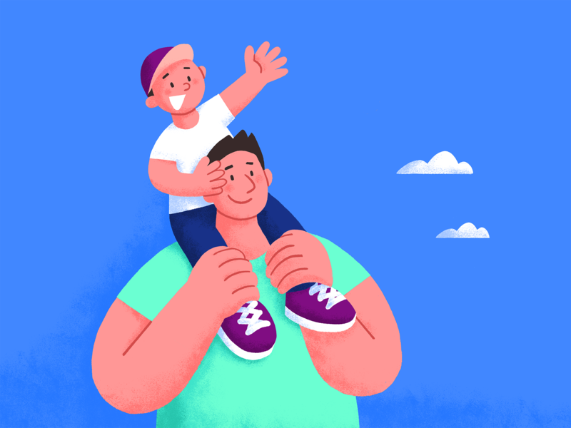 Father And Son family son fatherandson fathersday father people design ui illustration
