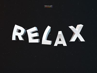 Relax HD Wallpaper relax 3d 3d text wallpaper