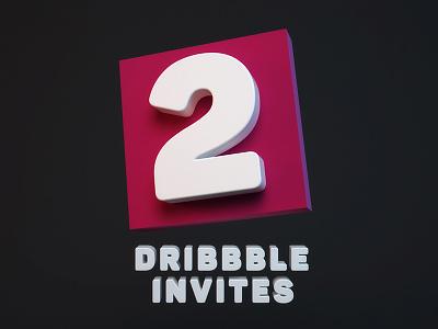 2x Dribbble Invites dribbble dribbble invite