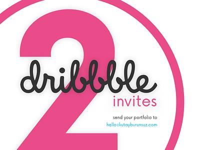 2 Dribbble Invites portfolio dribbble invite invites invite dribbble