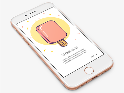 Ice cream illustration ice cream sprinkle onboarding illustration appdesign ui design
