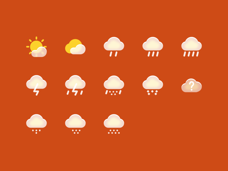 The weather icon uiux ui