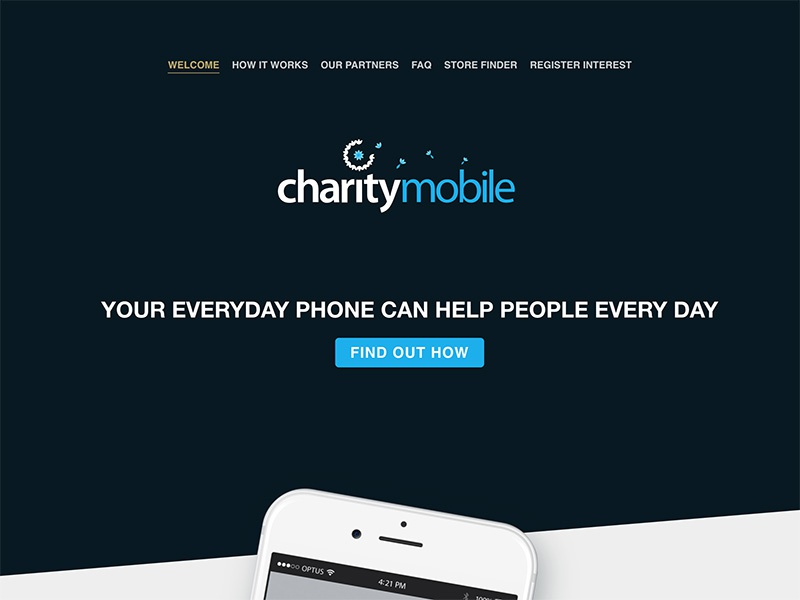 Charity Mobile website css front-end development web design css animation motion design ux design ui ui design