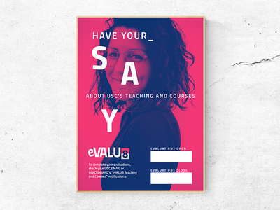 Poster design duotone education branding communication design visual design