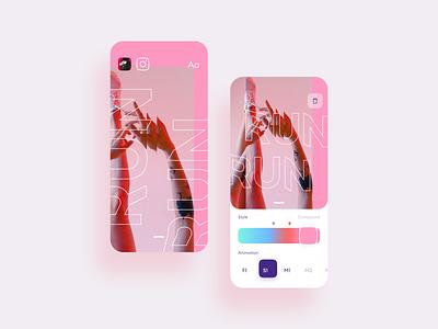 Instagram story maker app mobile ui concept design app