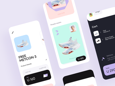 Clothing Shop App payment fashion app design ui mobile