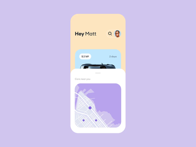 Car Rental Mobile App animation choose app profile bmw card drive searching 3d booking rental car design motion interaction ui mobile
