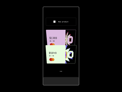 Banking App Landing Page Transition balance transition website ui bank page landing web card financial fintech design animation interaction motion app mobile banking