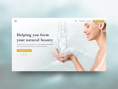 Web Design | Plastic Surgery Clinic doctor plastic surgery wellness website webdesign web health care health organic fresh clean ui ui wordpress clinic clean beauty