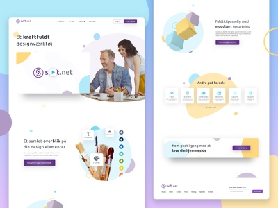 Web Design | Danish Web-Builder Tool (Saas) assets danish web builder website design simple clean interface light simple colourful brand assets website design web design web clean ui