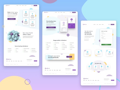 Web Design | Danish Web-Builder Tool (Saas) simple clean interface danish website design web builder abstract shapes colourful light ui design web design web clean website