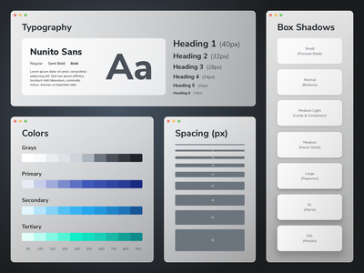 Design System | deepdivr (Saas) elements shadows typography rounded component ui cards clean css theme bootstrap user interface design user interface components styles design systems design cards ui ui