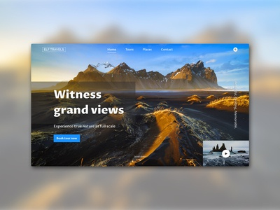 Landing Page Concept - Icelandic Tour Agency