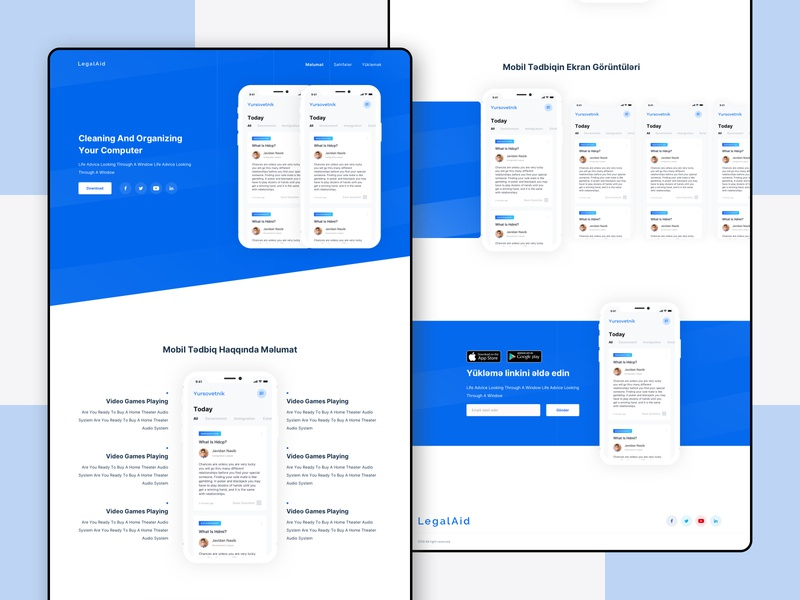 Legalaid - Lawyer Finder App Landing firstshot design adobe adobexd application design applanding landing finder app mobile lawyer uiux ui ux design