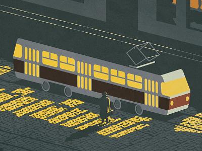 Night Tram tatra city night tram