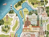 Riga Map Postcard