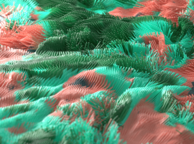 Advection redshift3d liquid design abstract animation c4d motion 3d