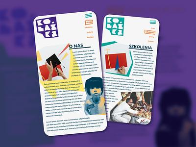 Kolażka website minimal illustrator design collage flat web app mobile mobile ui website branding ui ux