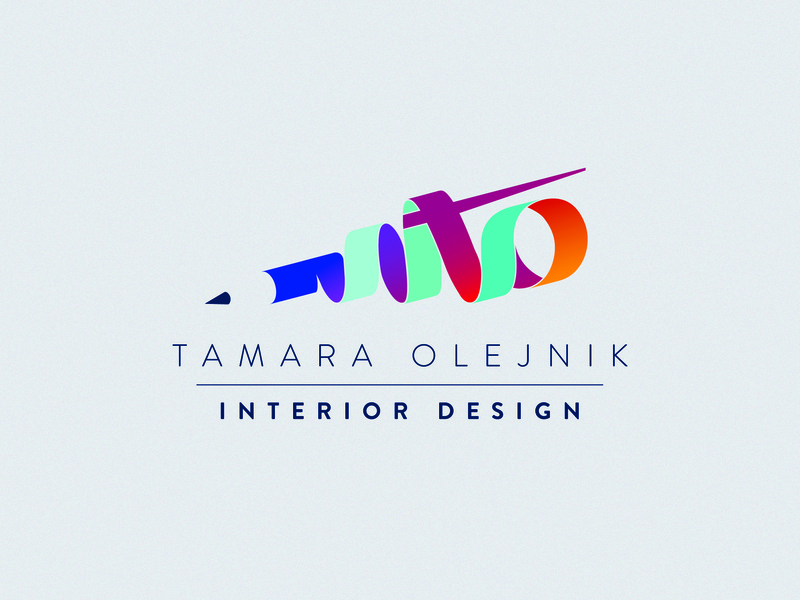 T O logotype interior designer pensil icon branding design vector typography logo