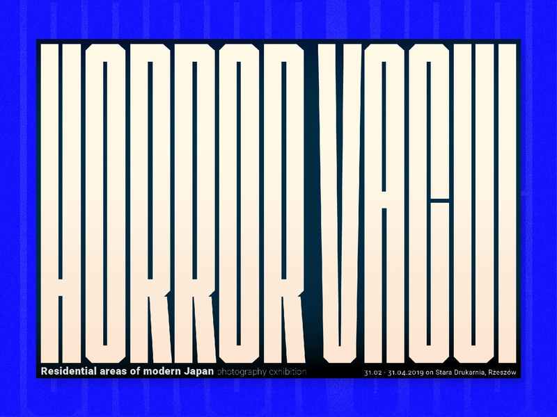 Horror Vacui vector typography design poster font exhibition poster horror vacui concept art graphic desgin letter design type art typography poster poster free font font designer font typography