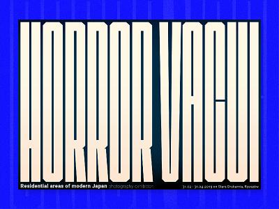 Horror Vacui vector typography design poster font exhibition poster horror vacui concept art graphic desgin letter design type art typography poster poster free font font designer font typography