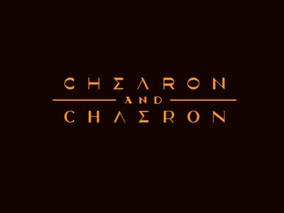 Chearon and Chaeron autors font modern font greece mark making branding vector typography logo characer font logotype