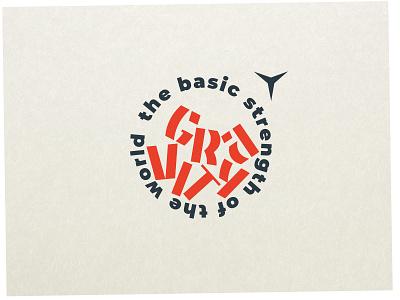 Gravity icon branding design typography vector logotype gravity logo