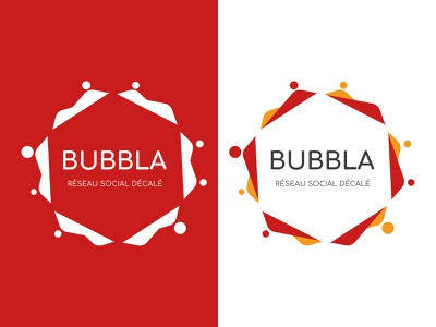 Logo BUBBLA red social designgraphic logo