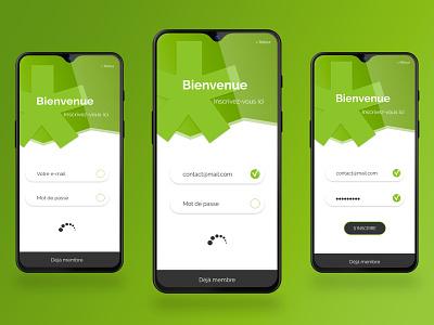 #001 DailyUI ux green app sign in app design