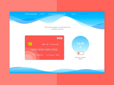 #002 Daily UI Credit card Checkout blue gradient livingcoral credit card checkout credit card payment credit card ux design