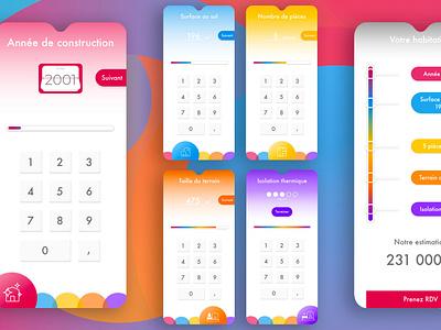 #005 Daily UI  Calculator mobile app design color grading dailyui estimation calculator