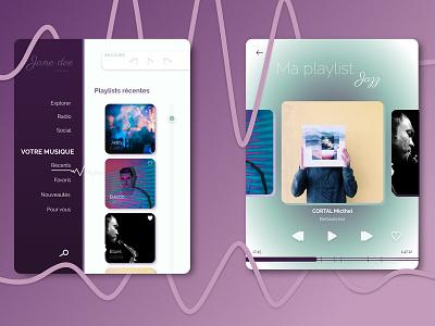 #006 Daily UI Music player dailyui purple playlists music player sound waves