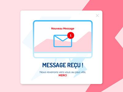 #016 pop-up pop-up popup red blue message webdesign dailyui