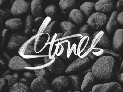 Stones typedesign hand drawn brush brushlettering customtype lettering drawing handlettering