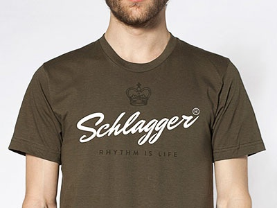 Schlagger type hand lettering brand design identity brush ink