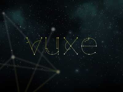 Vuxe logo identity wish 2015 type font design thinline plots lines