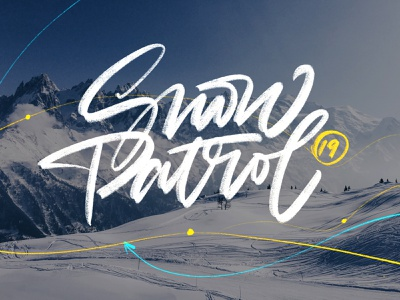 Snow Patrol ipad pro procreate digital handmade illustration font calligraphy brush lettering handlettering