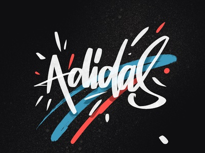 Adidas graffiti digital drawer sketch logo design brush script font handletter handlettering