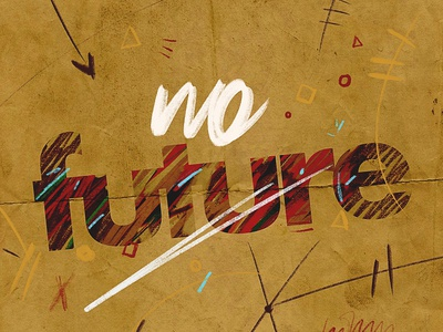 No future sentence symbols signs textures illustration brush lettering digital graphicdesign design composer font brush handlettering
