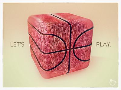 Let's play. debuts play basketball illustration old fashion artnok