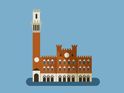 Siena Icon monuments siena design icons illustration turism map spain mediterraneo rebomboestudio rebombo